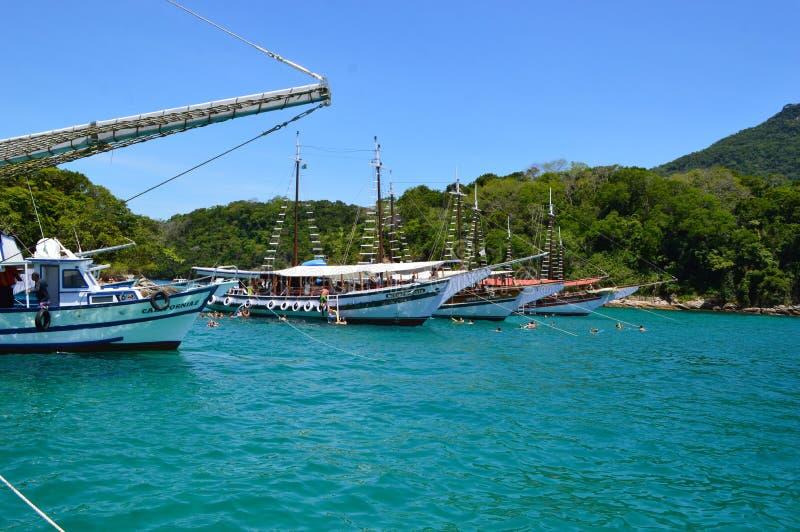 Angra dos reis in Brazil. Popular resort in Brazil, Angra dos reis stock photography
