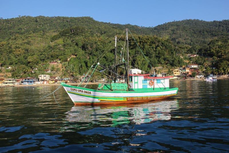 Angra DOS stora Reis och Ilha är turist- destinationer i Rio de Janeiro royaltyfri bild