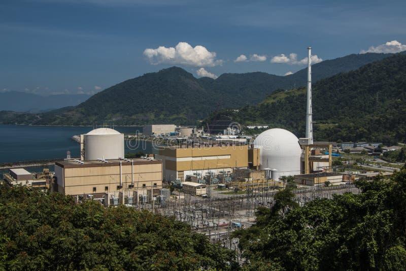 Angra kärnkraftverk royaltyfria foton