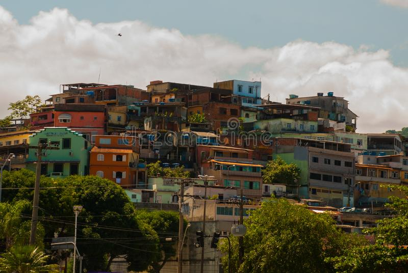 Angrados Reis, Rio de Janeiro State, Brazilië: Santa Luzia Pier in Angra-Dos Reis royalty-vrije stock foto's