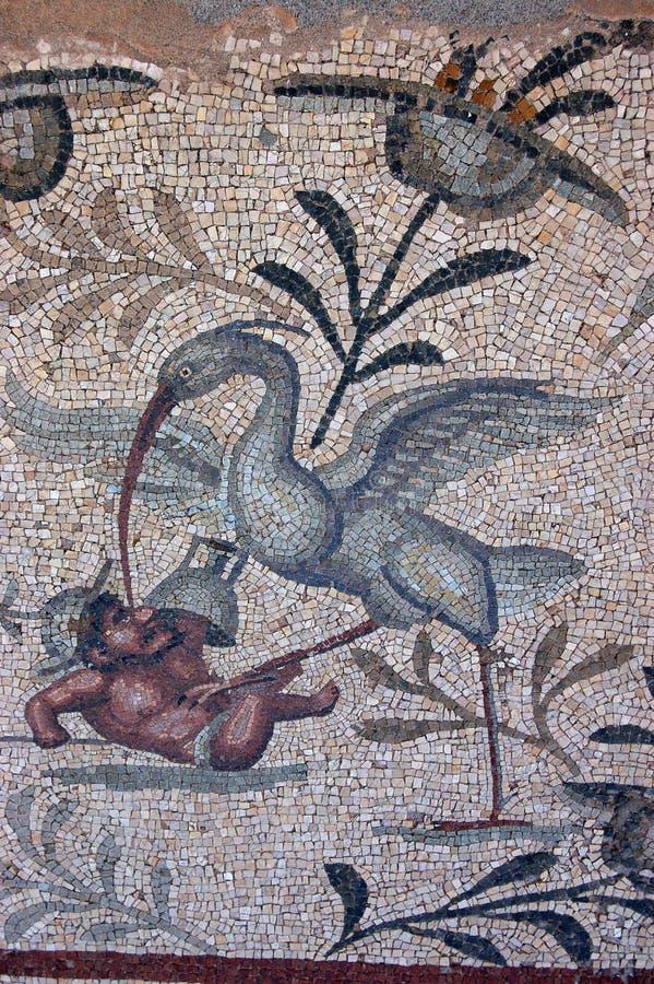 Angreifendes Gladiatormosaik des Vogels lizenzfreie stockbilder