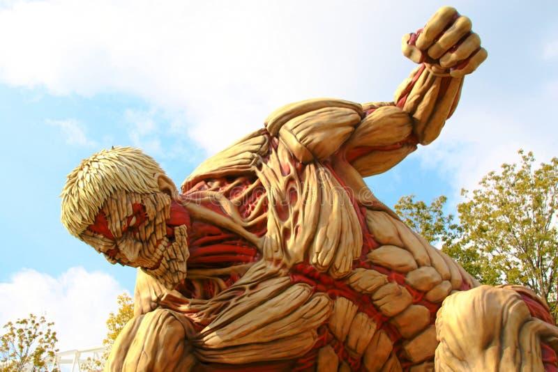 Angriff auf Titanen lizenzfreie stockfotos