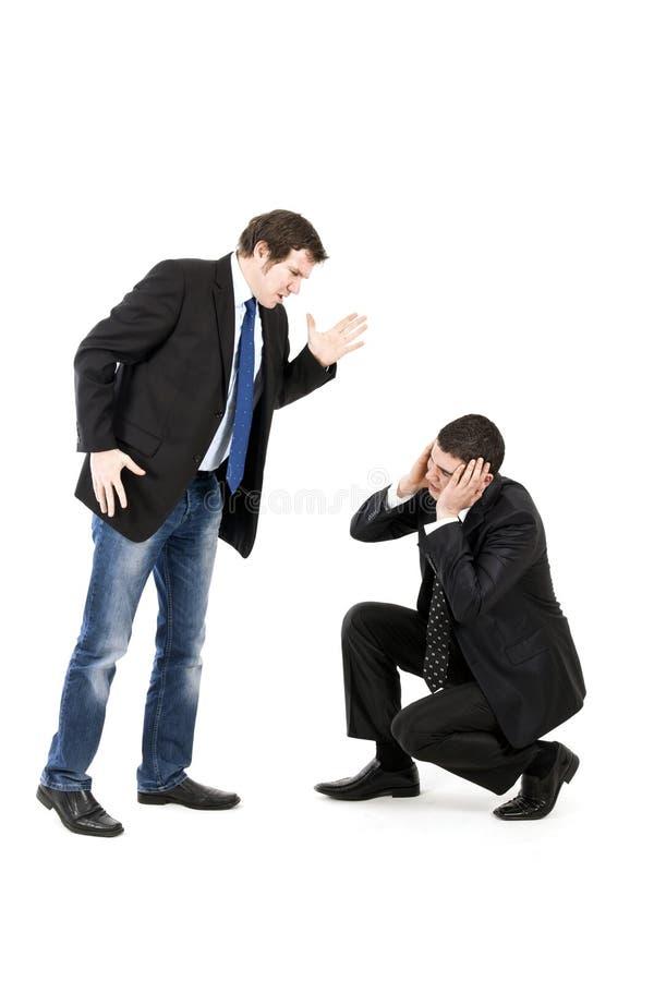 Angriff im Büro lizenzfreie stockfotos