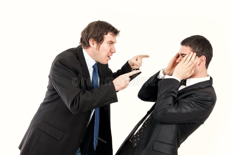 Angriff im Büro stockbilder