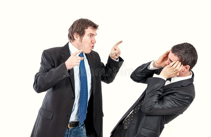 Angriff im Büro stockfotos