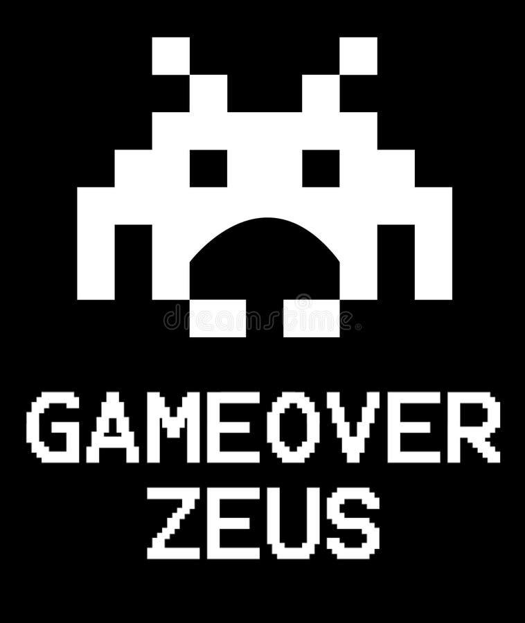 Angripare för Gameover Zeus virusutrymme stock illustrationer