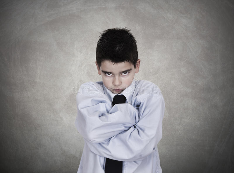 Angry. Young man in business clothes angry negative attitude royalty free stock image