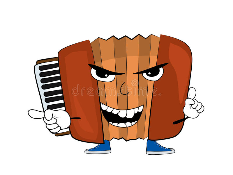 Angry accordion illustration. Vector illustration of angry accordion illustration royalty free illustration