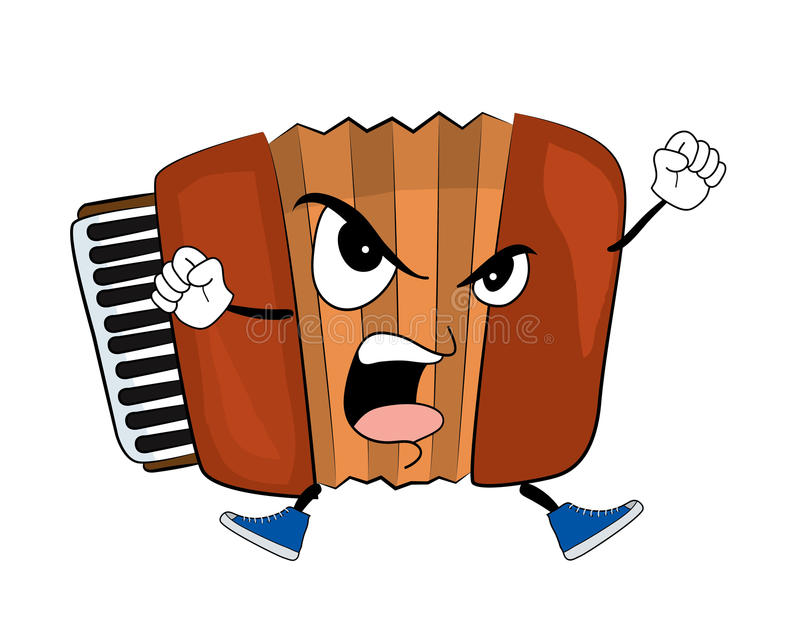 Angry Accordion illustration. Vector illustration of angry accordion illustration vector illustration