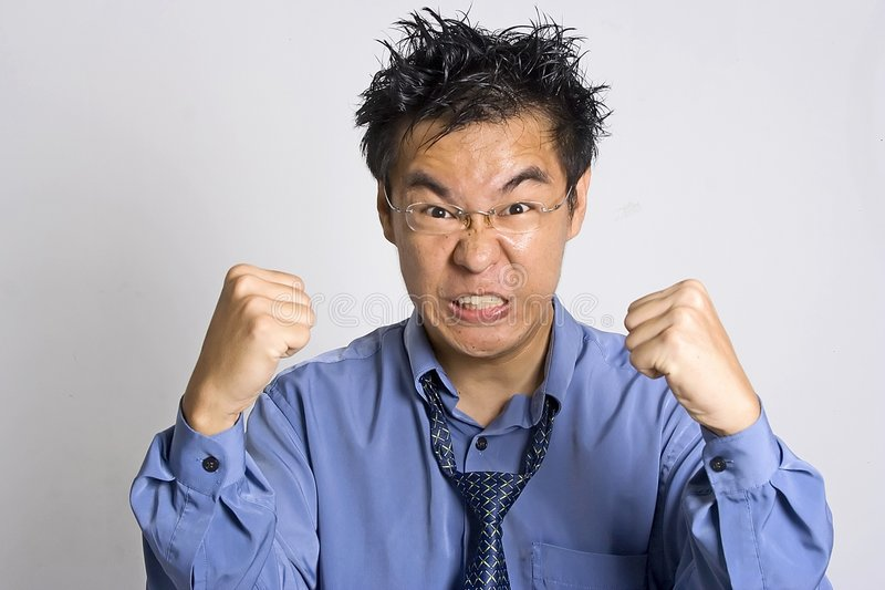 Angry Adult. Angry Asian Adult royalty free stock photo
