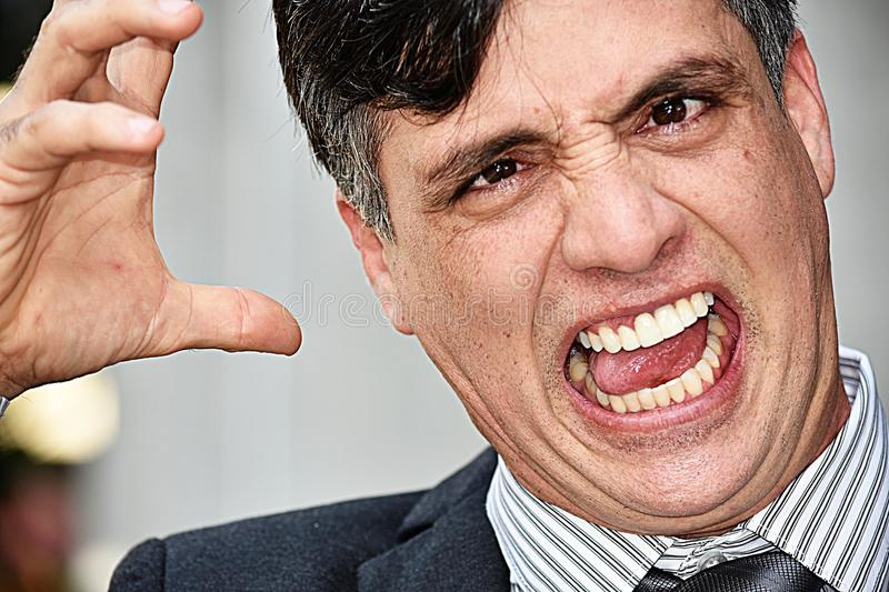 Angry Adult Businessman stock photo