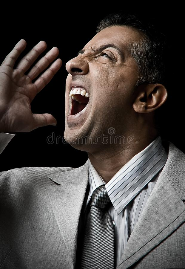 Angry adult man royalty free stock image