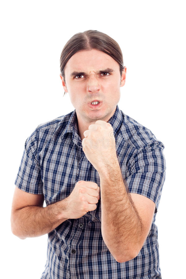 Download Angry aggressive man stock photo. Image of person, hand - 23191576