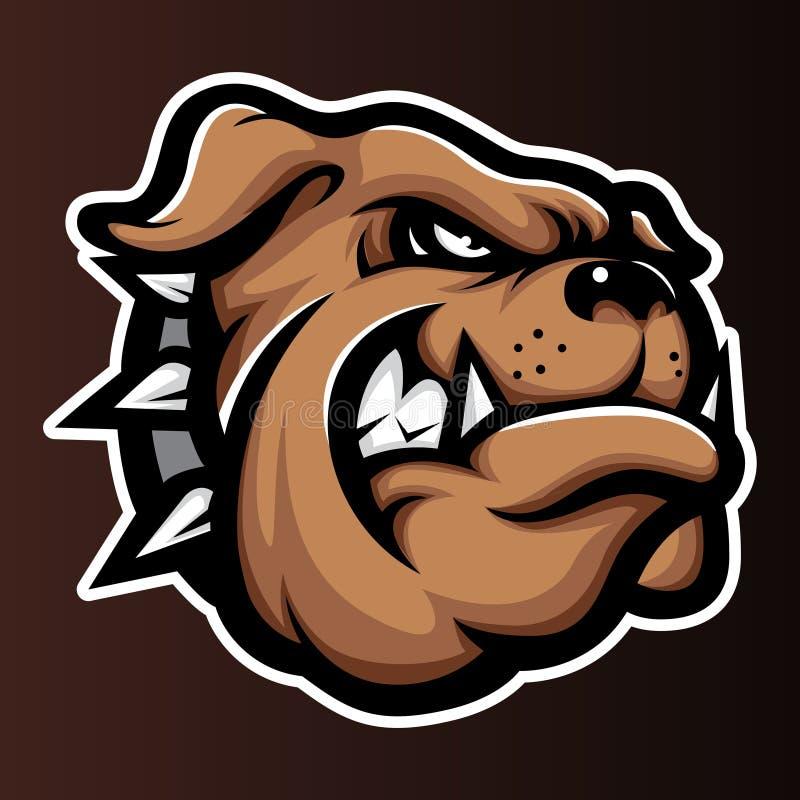 Bulldog Annimal head logo icon vector royalty free illustration