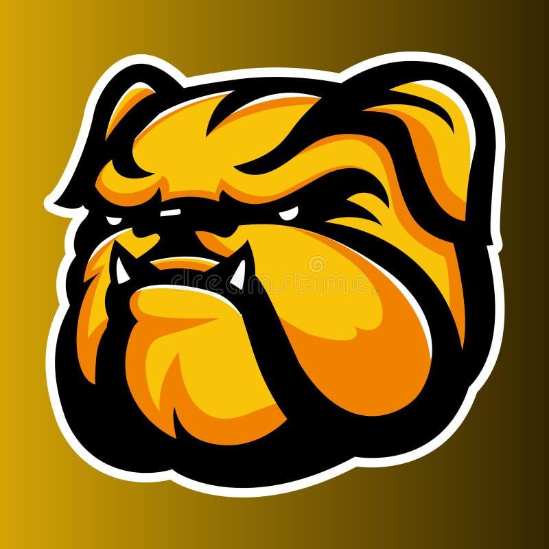 Bulldog Annimal head logo icon vector stock illustration