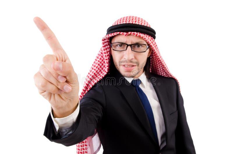 Angry arab man stock photography