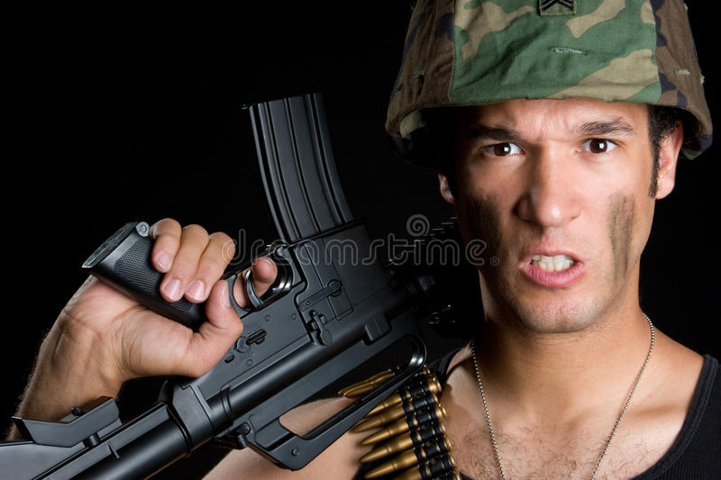 Download Angry Army Man stock photo. Image of mean, weapon, marine - 10260222