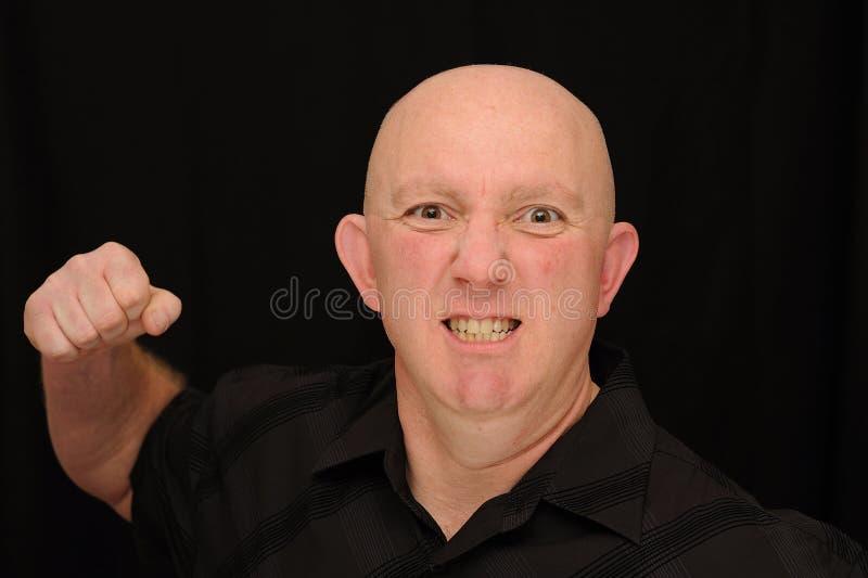 Angry Bald man Punching