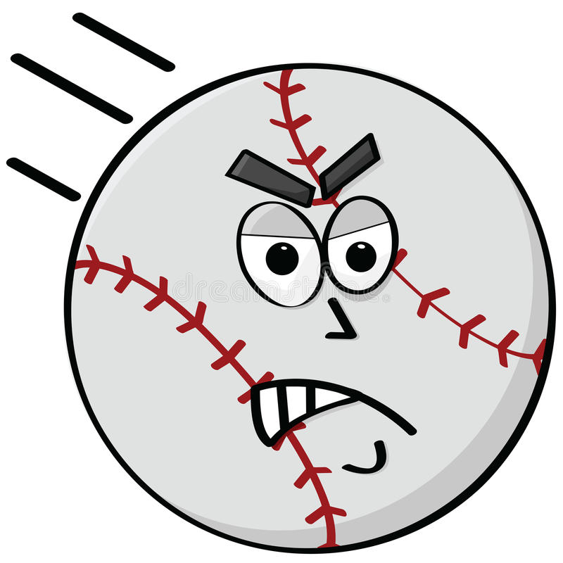 Angry Baseball Stock Photography