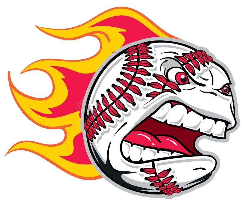 Angry Baseball. Flamed Angry Baseball flames flying
