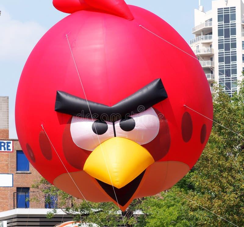 Angry Bird Float In K-Days Parade. July 18, 2014, Edmonton Alberta royalty free stock image