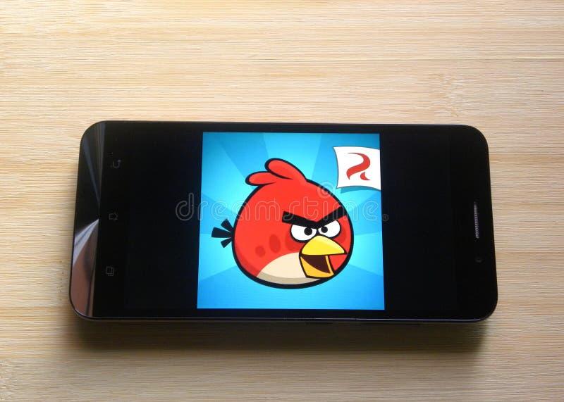 Angry Birds-spel app stock afbeeldingen