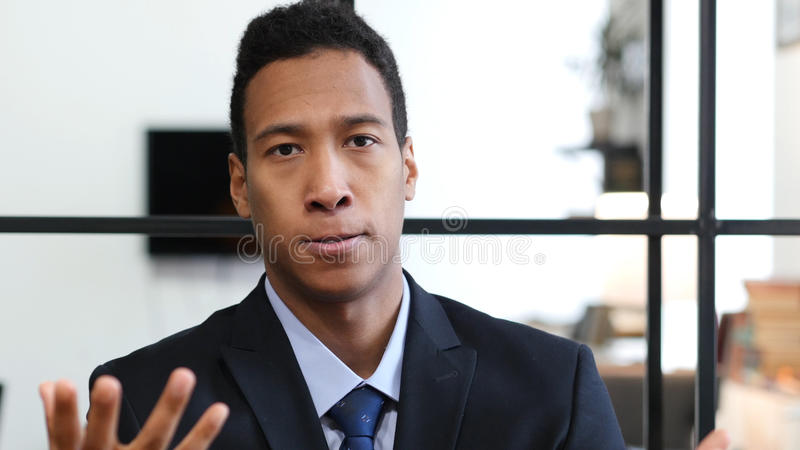 Angry Black Businessman, Yelling and Arguing royalty free stock image