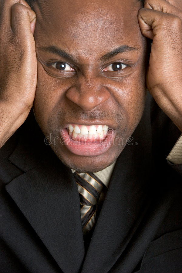 Download Angry Black Man stock image. Image of face, frustrated - 5842341