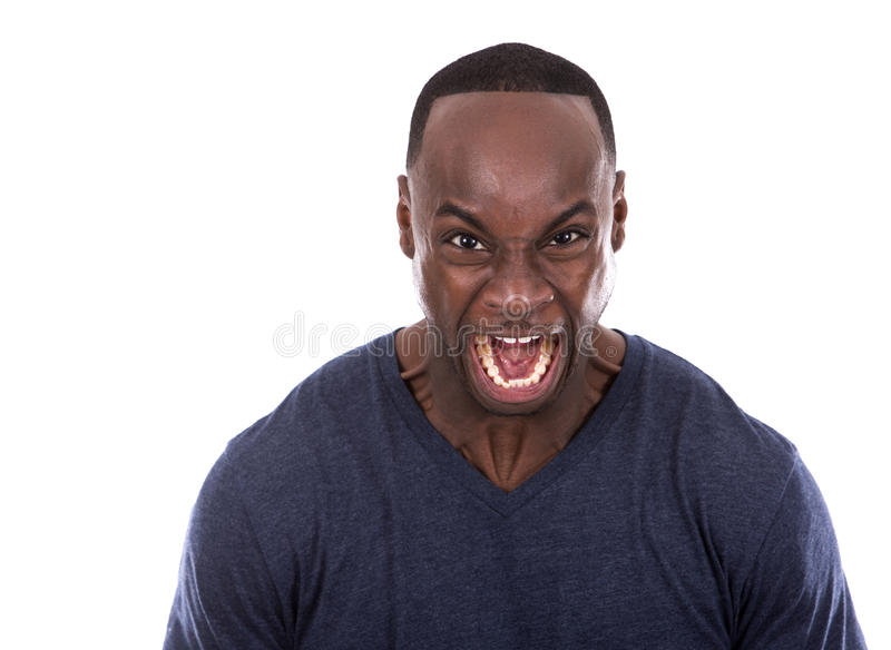 Angry black man stock image. Image of white, looking ...