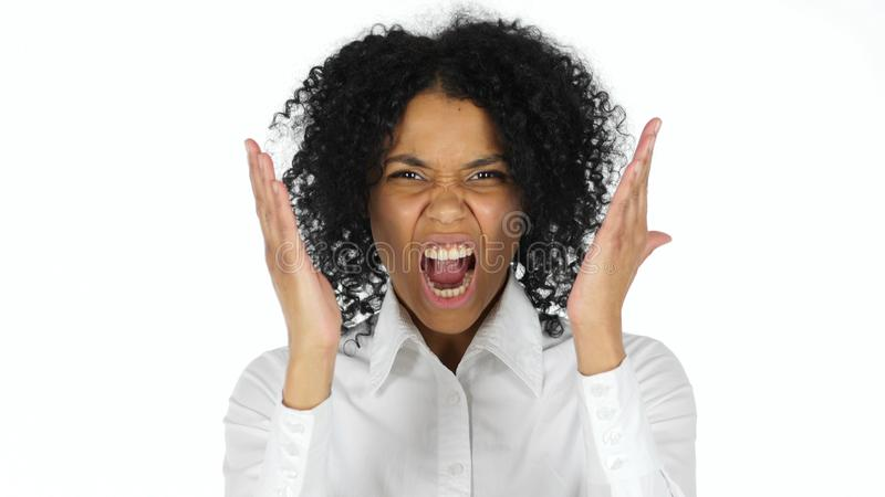 Angry Black Woman Screaming And Yelling Stock Photo ...