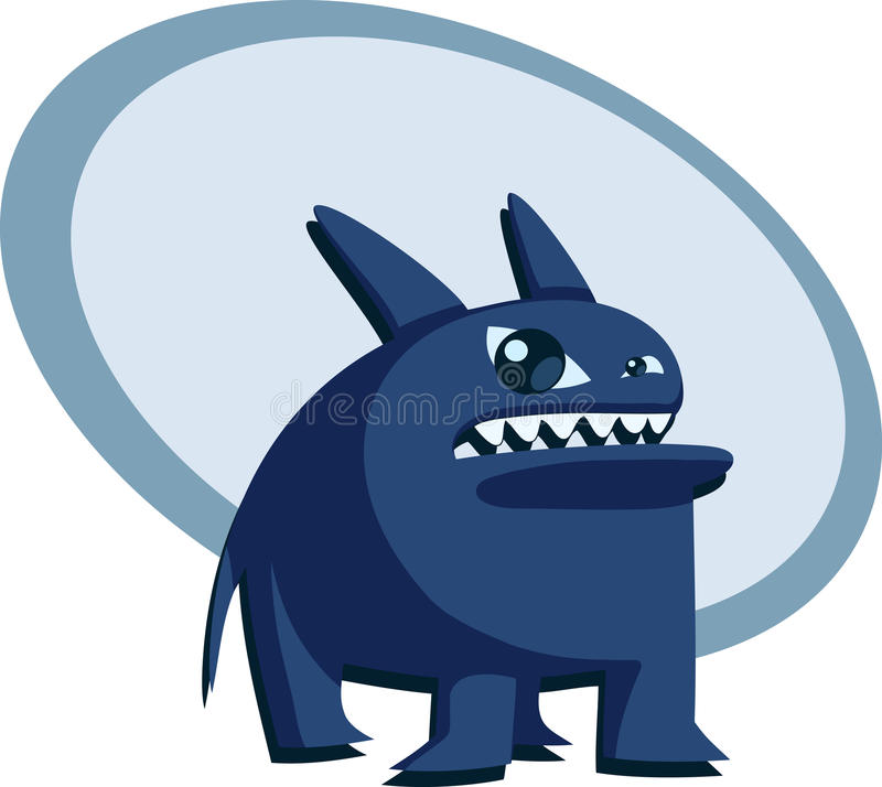 Angry Blue Beast Stock Image