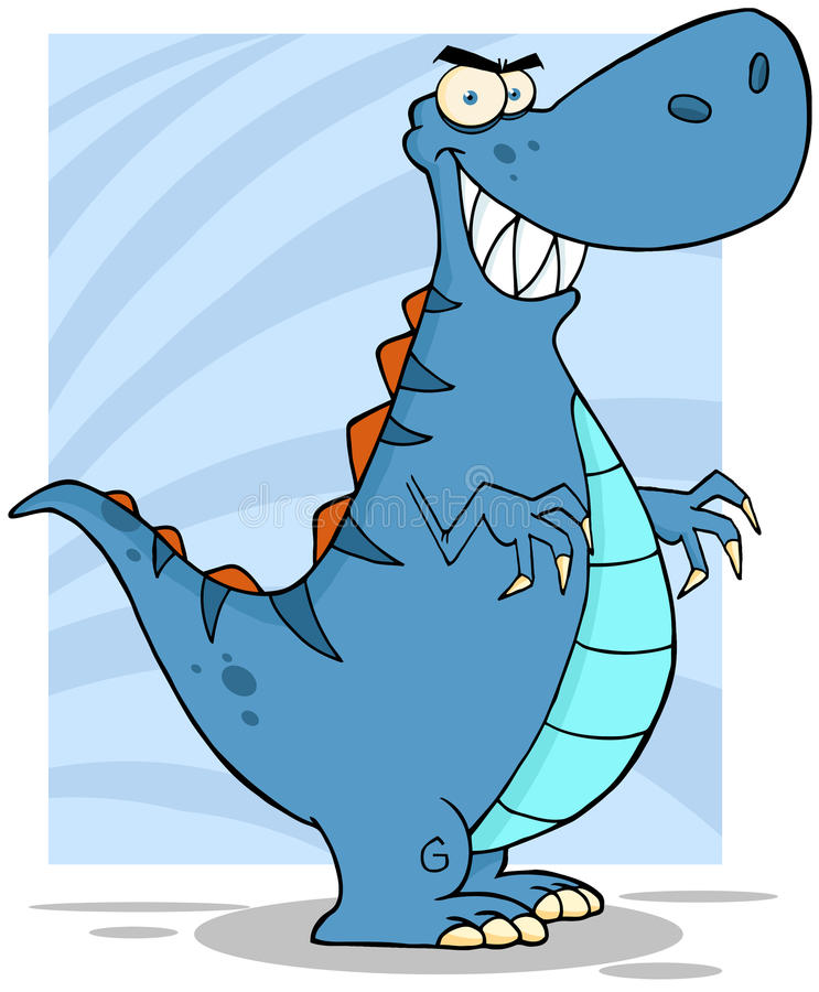Download Angry Blue Dinosaur stock vector. Illustration of design - 26786869