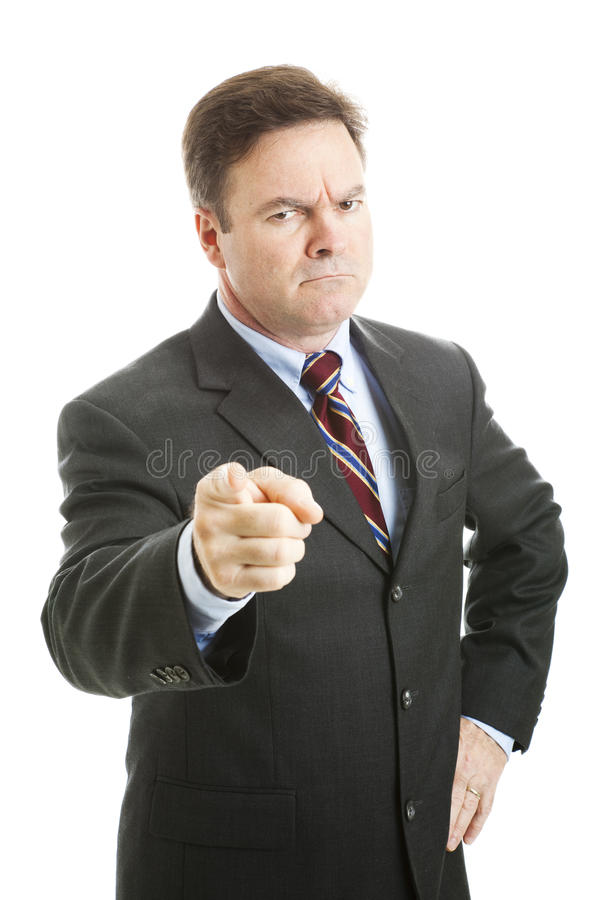 Download Angry Boss stock photo. Image of background, pointing - 20022702