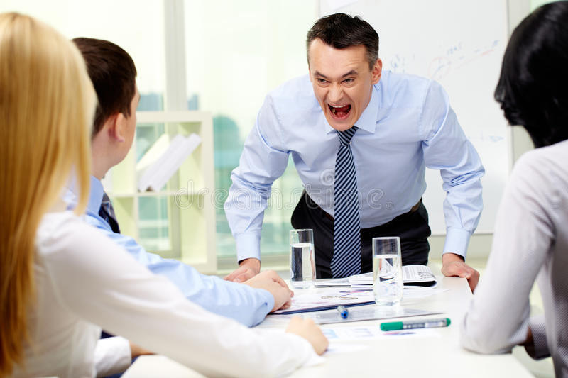 Angry boss royalty free stock image