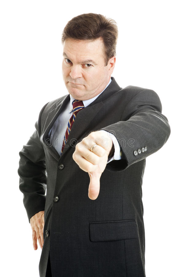 Angry Boss - Business Failure Royalty Free Stock Photography