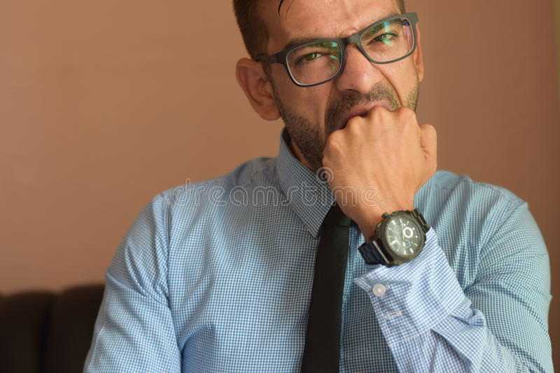 Angry boss stock photography