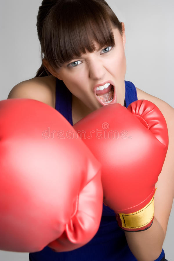 Angry Boxer royalty free stock photos