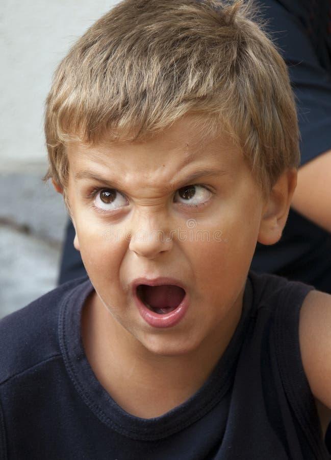 Free Angry Boy Stock Image - 11110951