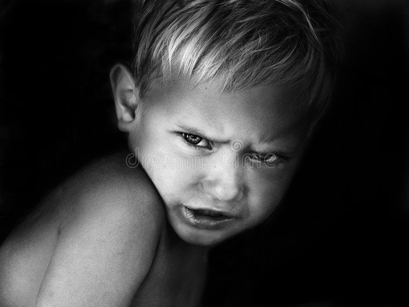Angry boy royalty free stock photography
