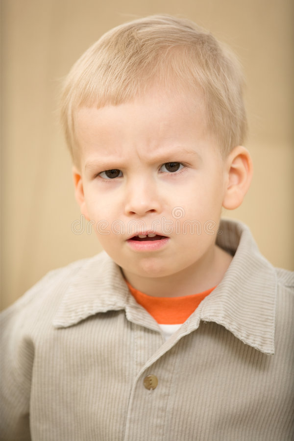 Angry boy royalty free stock photo