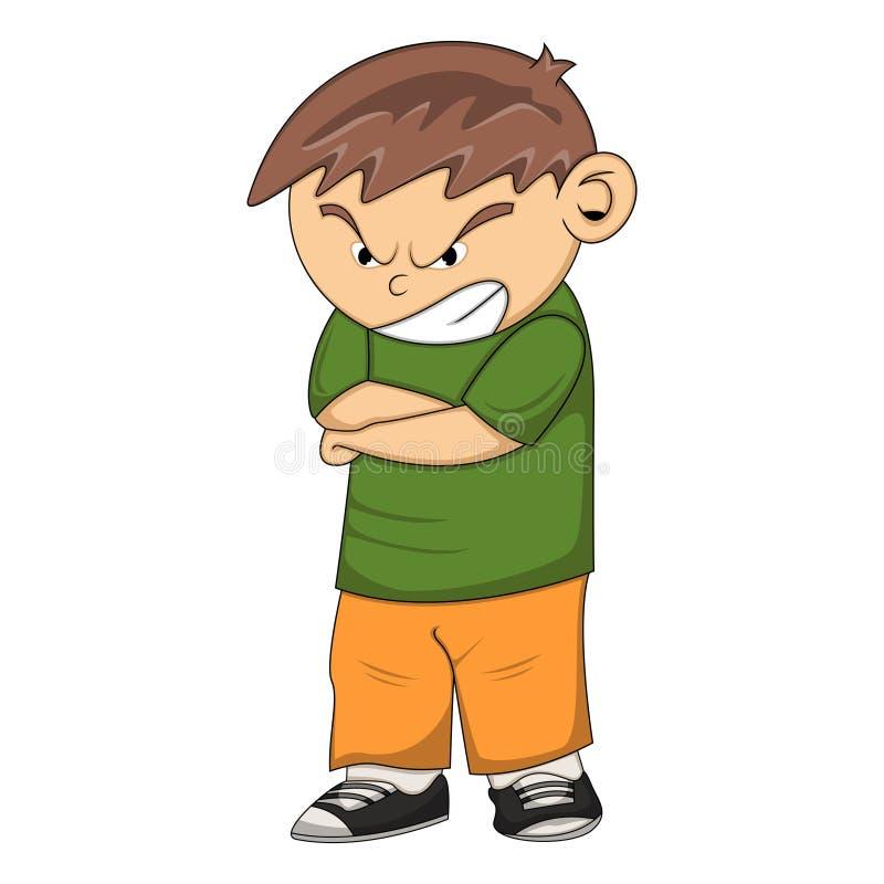Angry boy cartoon stock vector. Illustration of preschool ...