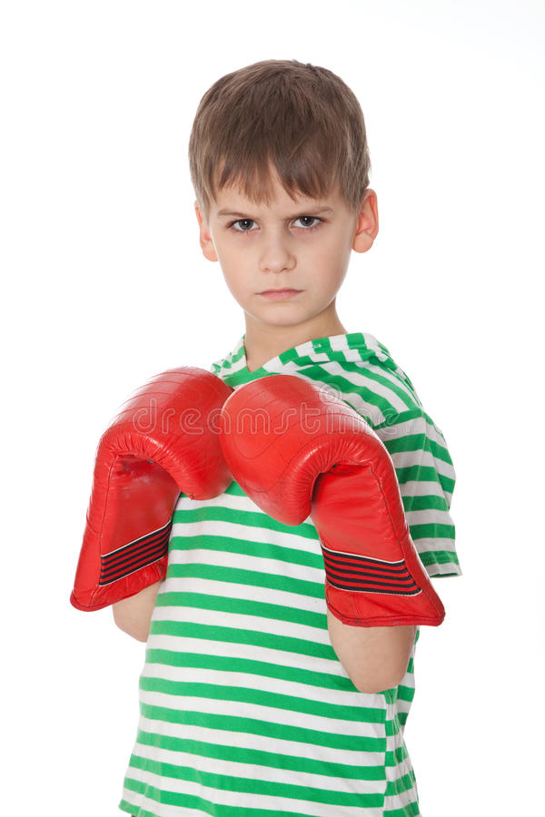 Download Angry boy pugilist stock photo. Image of hitting, arms - 18572530