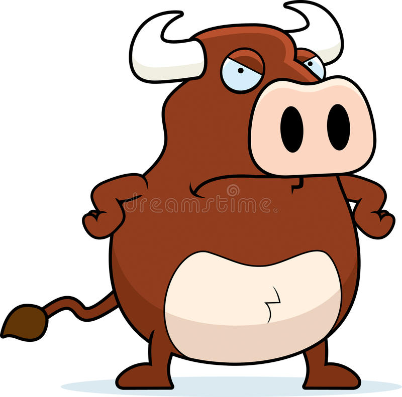 Angry Bull royalty free illustration