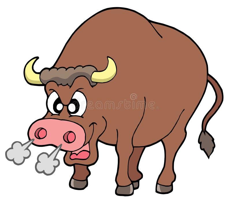 Angry bull vector illustration
