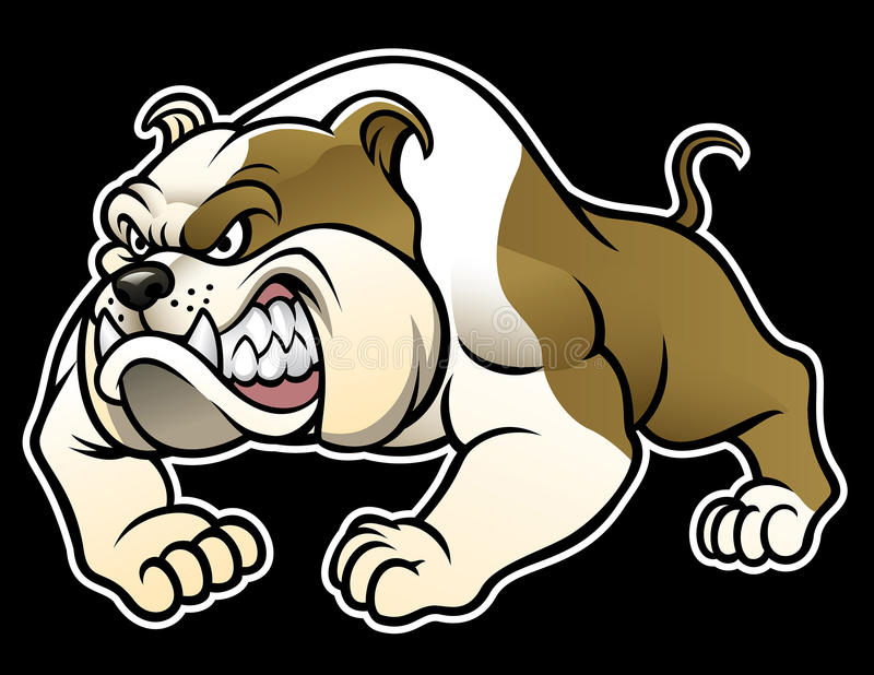 Angry bulldog stock vector. Illustration of funny, brown ...