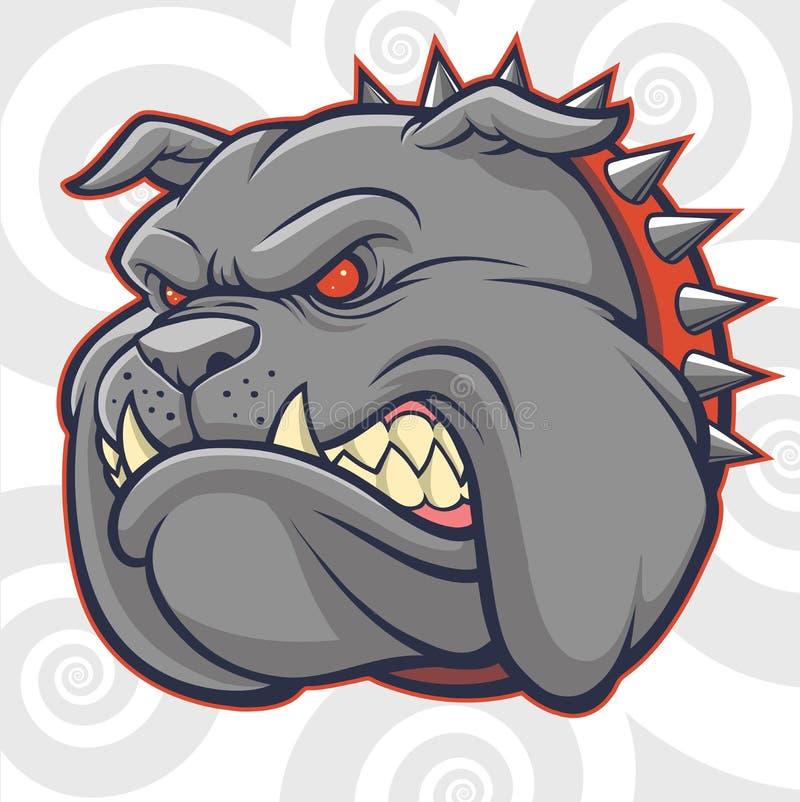 Angry Bulldog Vector royalty free illustration