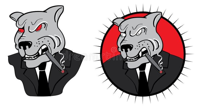 Angry business dog. stock photo