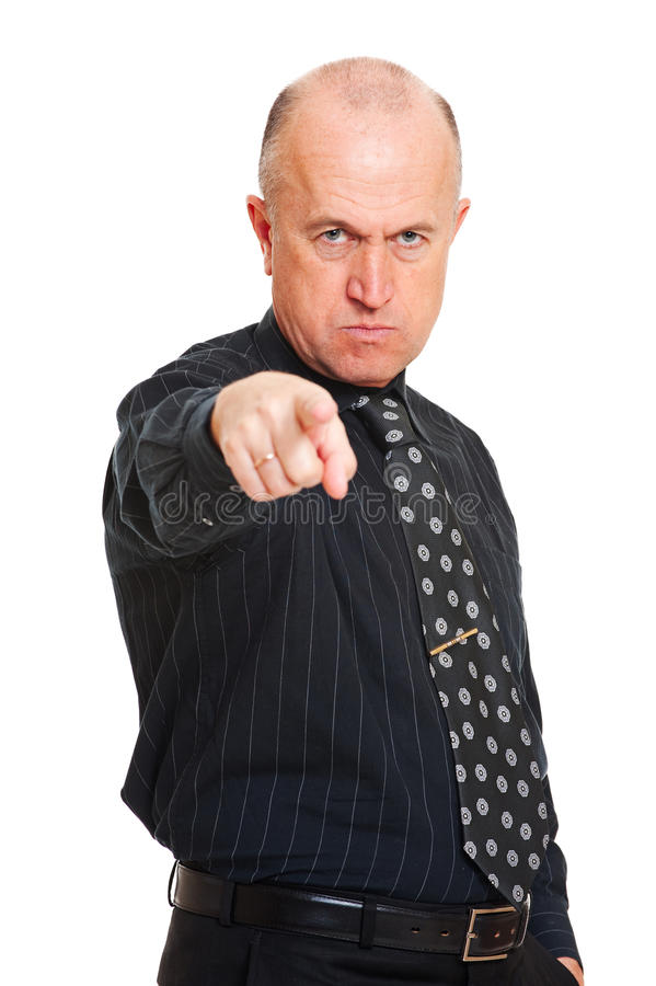 Angry business man royalty free stock image