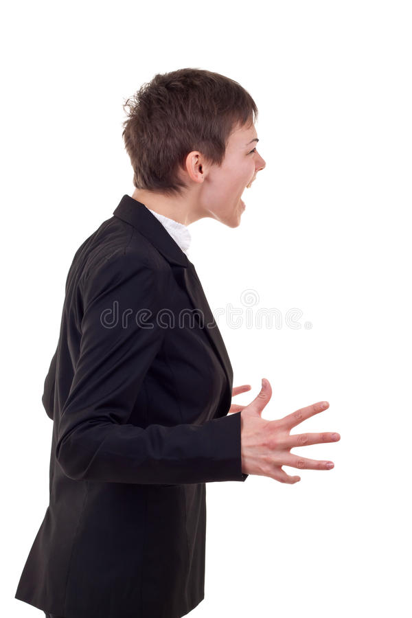 Angry business woman royalty free stock photo