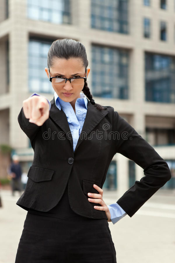 Download Angry business woman stock image. Image of outside, concept - 19693681